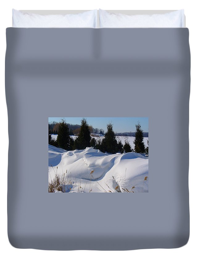 Snow Duvet Cover featuring the photograph Waves Of Snow by Peggy King