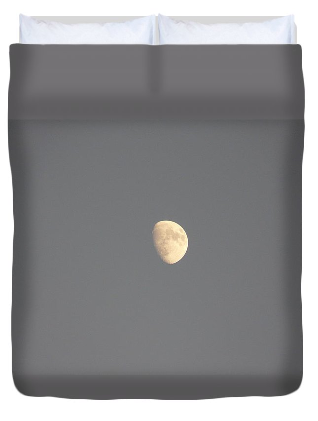 Waxing Duvet Cover featuring the photograph Waxing Moon by Valerie Ornstein
