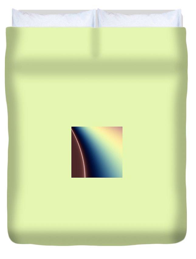 Digital Art Duvet Cover featuring the digital art Way Out II by Dragica Micki Fortuna