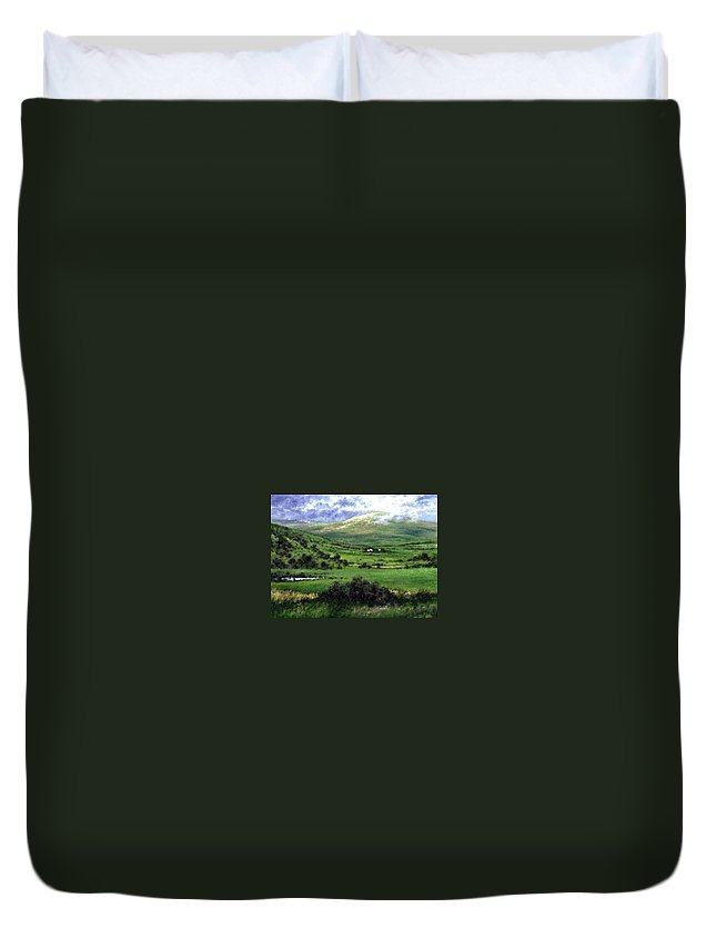 Landcape Duvet Cover featuring the painting Way To Ardara Ireland by Jim Gola