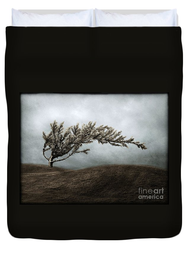 Bend Duvet Cover featuring the photograph We Break And We Bend And We Turn Ourselves Inside Out by Dana DiPasquale