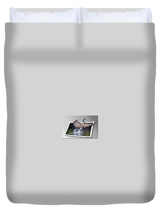 2d Duvet Cover featuring the photograph We Have Liftoff by Brian Wallace
