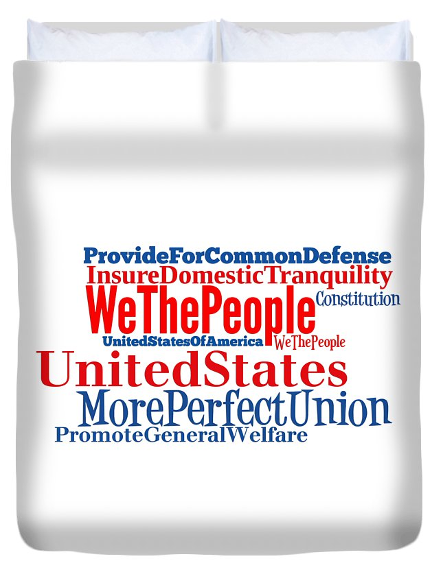 We The People Duvet Cover featuring the digital art We The People by Anne Kitzman