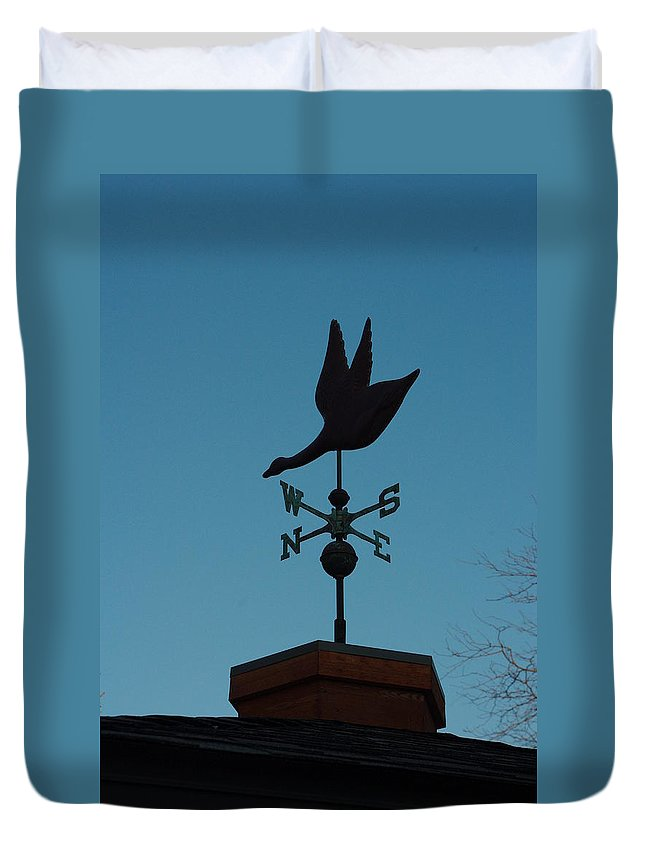 Weather Vane Duvet Cover featuring the photograph Weather Vane by Alice Markham