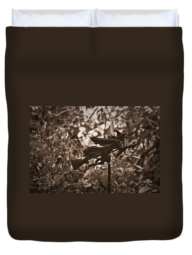 Weather Duvet Cover featuring the photograph Weather Vane by Teresa Mucha