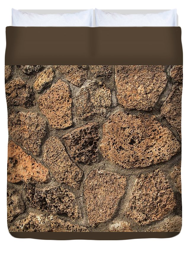 Stone Duvet Cover featuring the photograph Weathered by Hany J