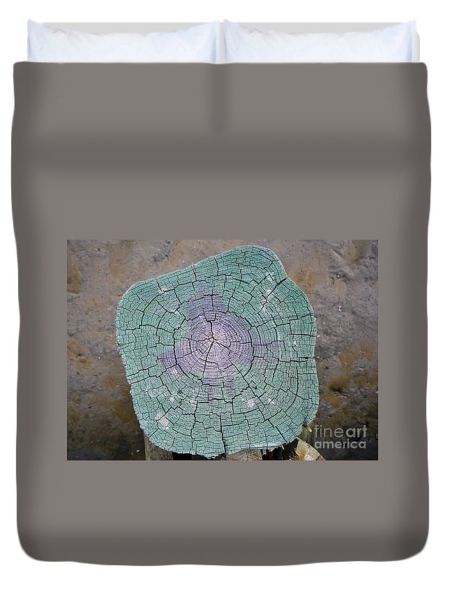 Pier Duvet Cover featuring the photograph Weathered Pier by David Lee Thompson