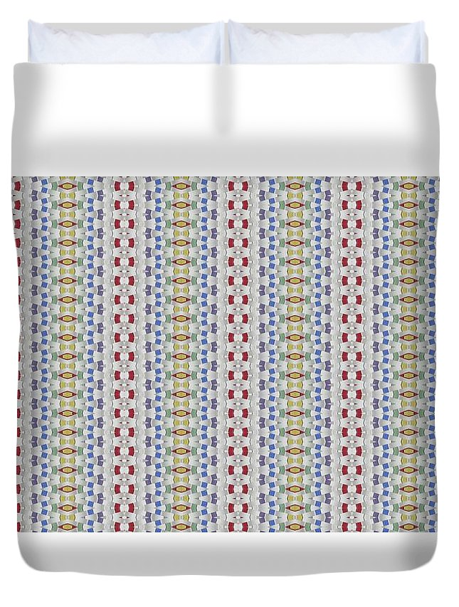 Duvet Cover featuring the digital art Weave Away by Jeffrey Todd Moore