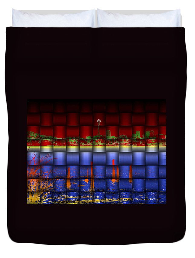 Seattle Duvet Cover featuring the photograph Weave Of The Needle by Tim Allen