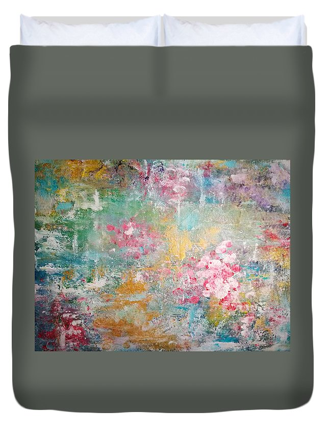 Abstract Duvet Cover featuring the painting Wedding Bells by Harriet De Leeuw