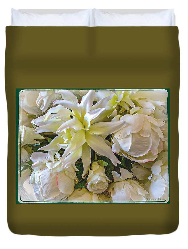 Bouquet Duvet Cover featuring the photograph Wedding Day Bouquet by Barbara Zahno