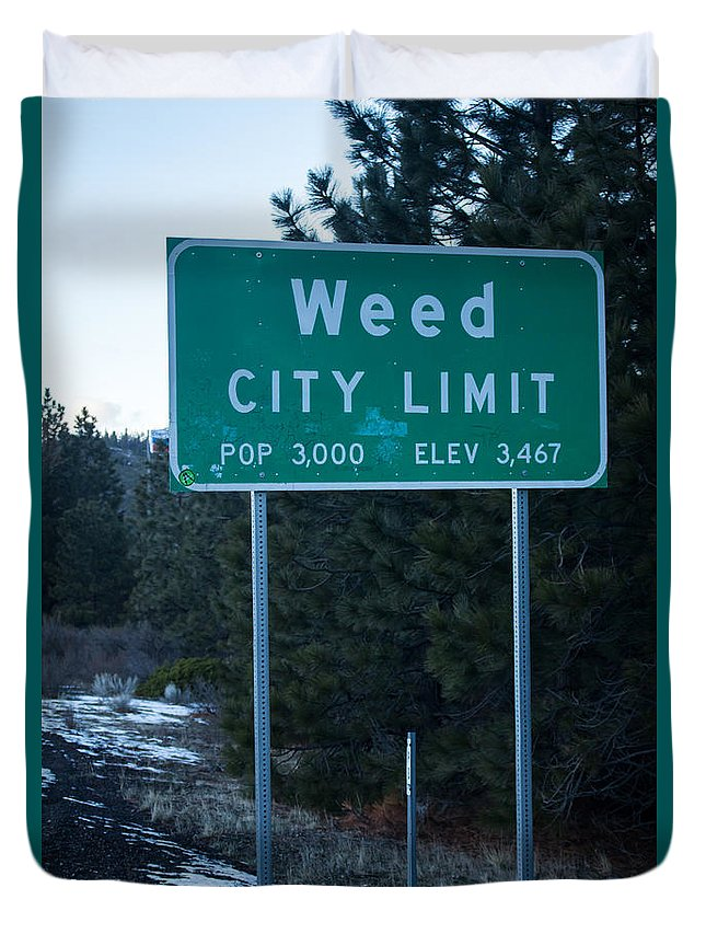 Weed Duvet Cover featuring the photograph Weed by Marnie Patchett