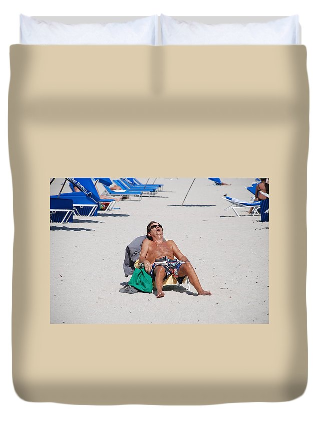 Beach Duvet Cover featuring the photograph Weekend At Bernies by Rob Hans