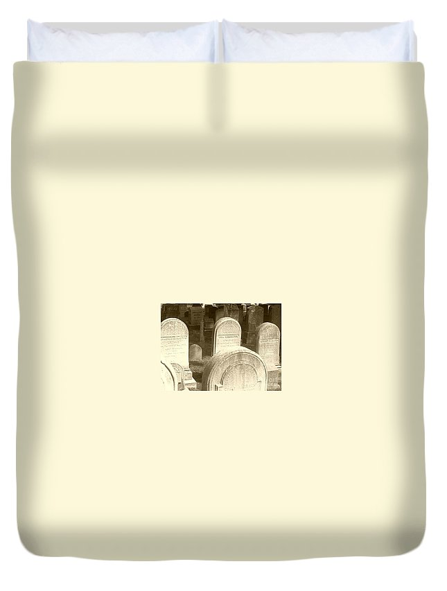 Cemetery Duvet Cover featuring the photograph Welcome by Debbi Granruth