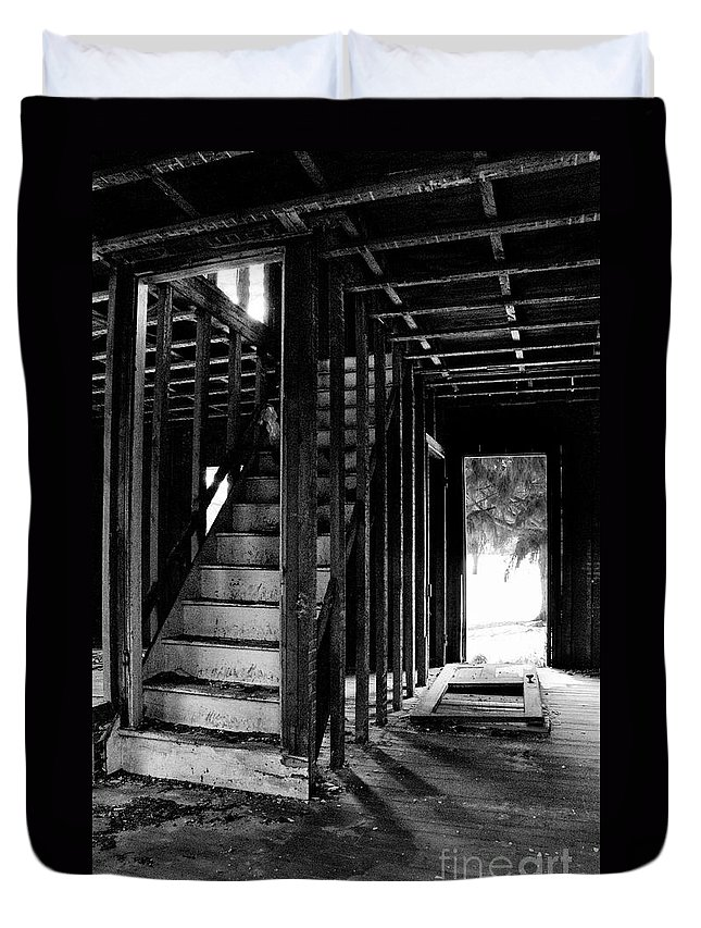 Stairs Duvet Cover featuring the photograph Welcome by Scott Hafer