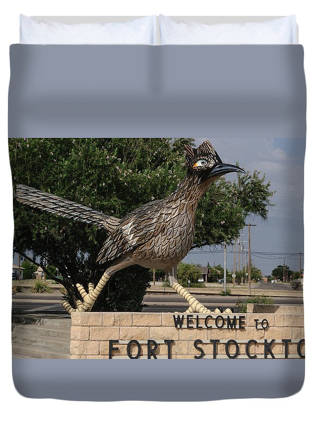 Fort Stockton Duvet Cover featuring the photograph Welcome To Fort Stockton by Tikvah's Hope