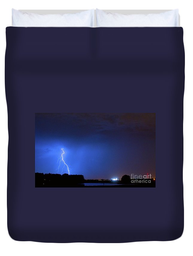 Weld County Duvet Cover featuring the photograph Weld County Looking East From County Line Co by James BO Insogna