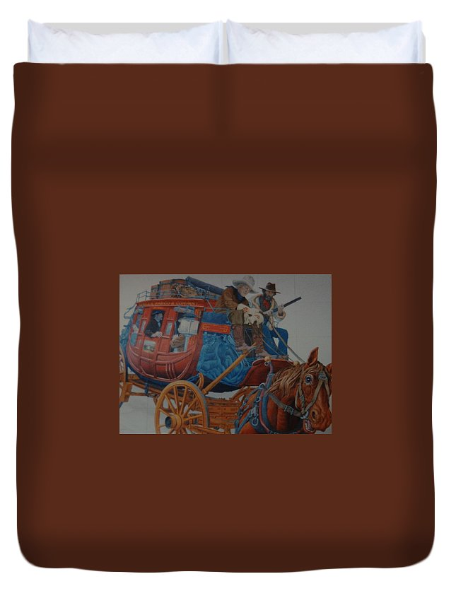 Mural Duvet Cover featuring the photograph Wells Fargo Stagecoach by Rob Hans