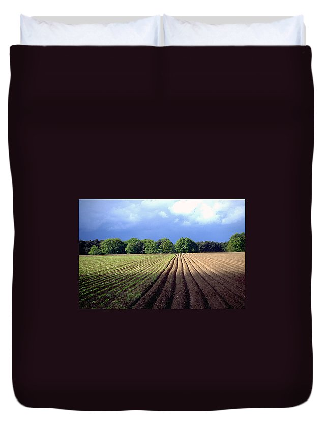 Wendland Duvet Cover featuring the photograph Wendland by Flavia Westerwelle