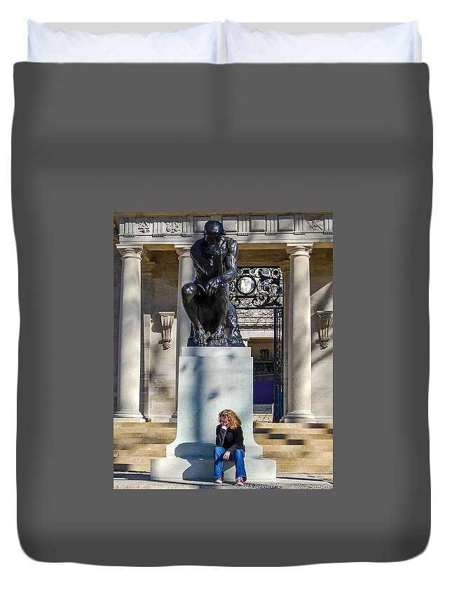 Casting Duvet Cover featuring the photograph We're Thinking Together by Jennifer Wick