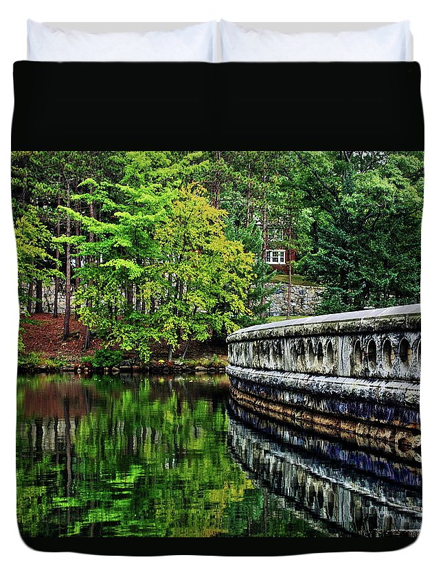 Reflection Duvet Cover featuring the photograph West Point by Daniel Koglin