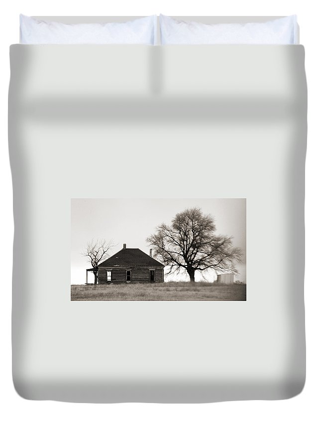 Texas Duvet Cover featuring the photograph West Texas Winter by Marilyn Hunt