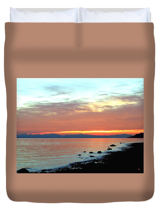 Sunset Duvet Cover featuring the photograph West Vancouver Sunset by Will Borden