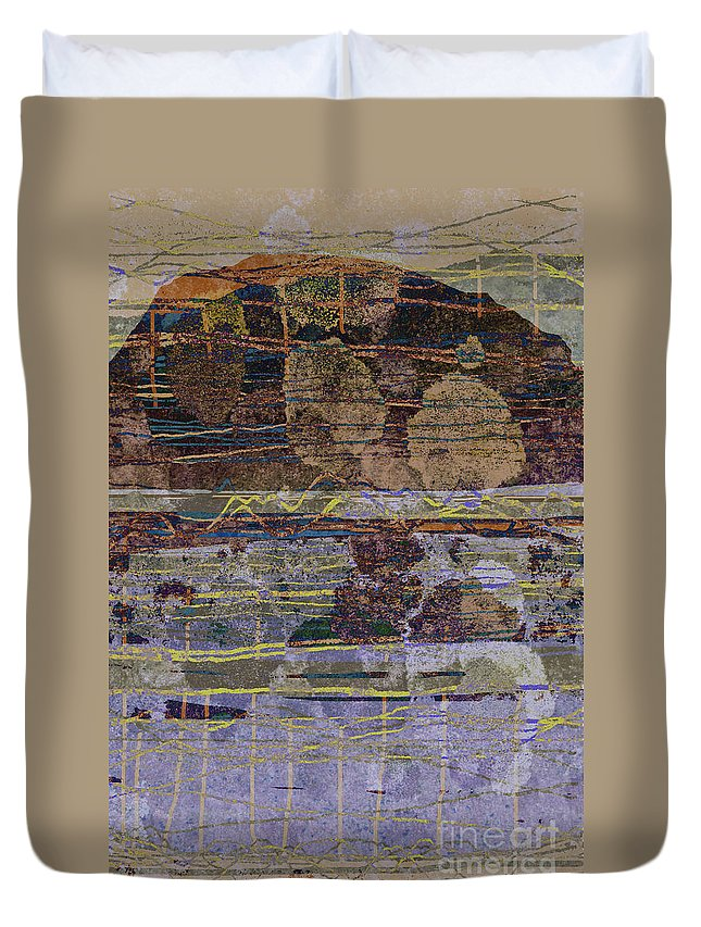 Mountain Duvet Cover featuring the digital art Westmorland 2 by Andy Mercer