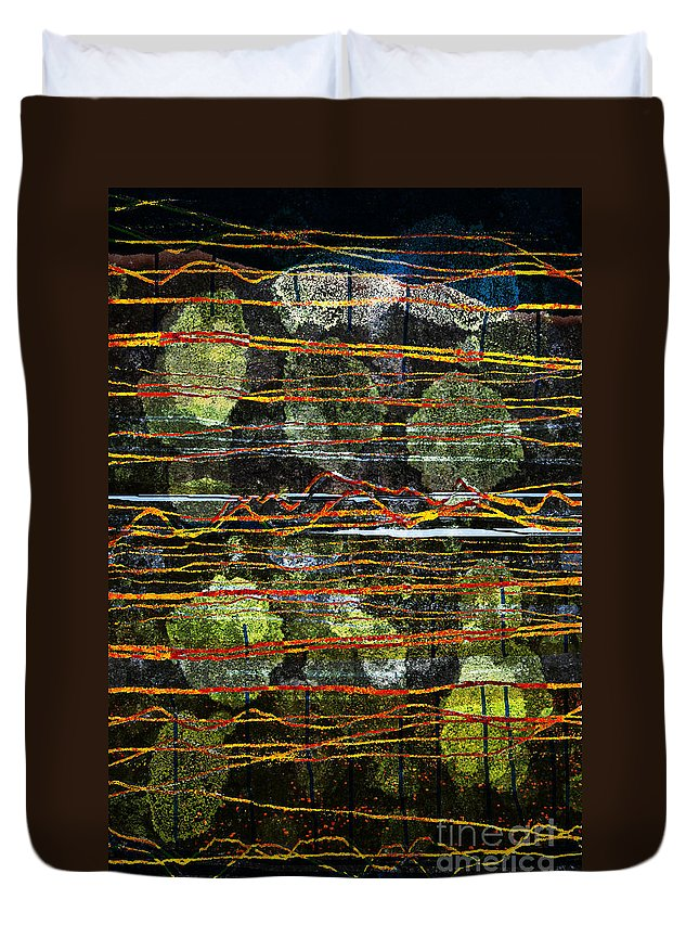 Westmorland Duvet Cover featuring the digital art Westmorland by Andy Mercer