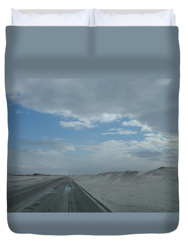 Sand Duvet Cover featuring the photograph Wet Sand On Pensacola Beach Road by Christiane Schulze Art And Photography