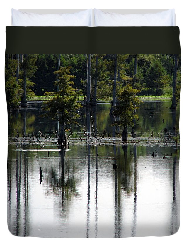 Wetlands Duvet Cover featuring the photograph Wetland by Amanda Barcon