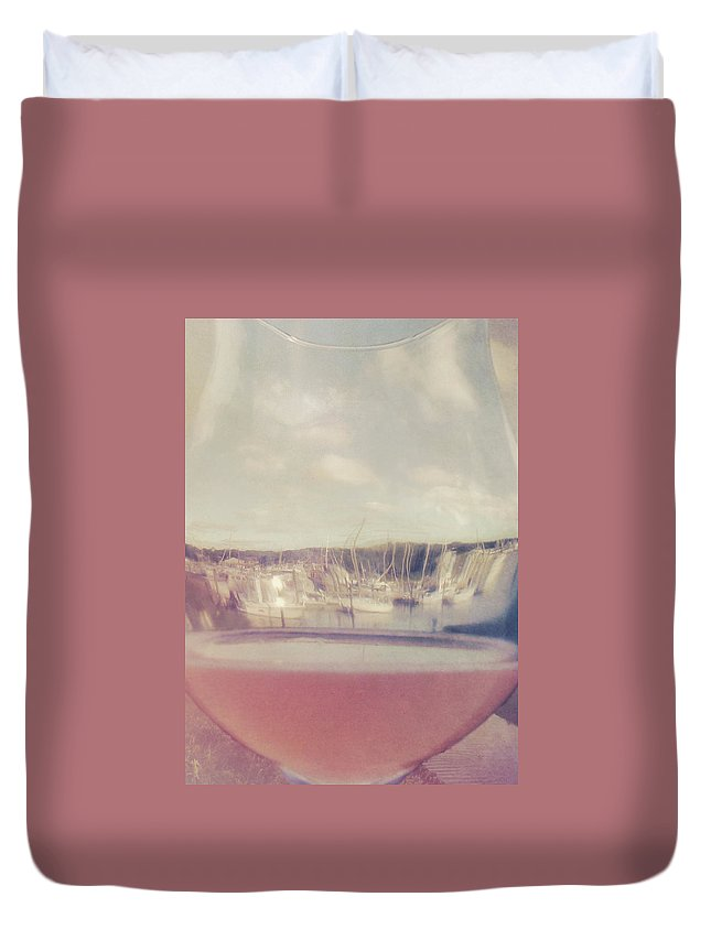 Drink Duvet Cover featuring the photograph Wharfed Perspective by JAMART Photography