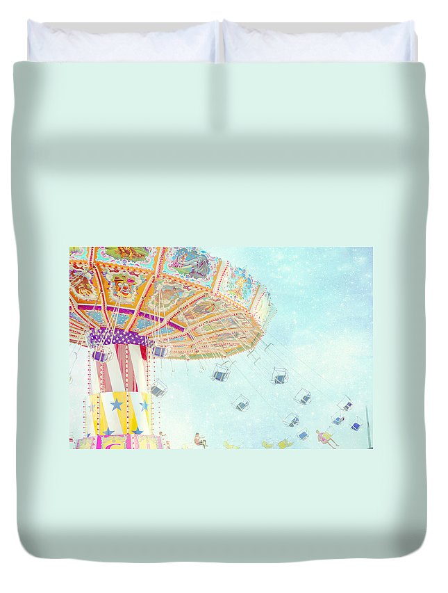 Carnival Photography Duvet Cover featuring the photograph What A Ride by Amy Tyler