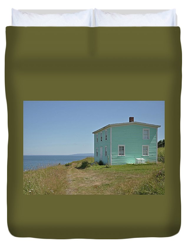 Ocean Duvet Cover featuring the photograph What A View by Colleen English