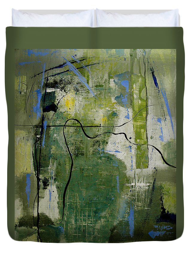Abstract Duvet Cover featuring the painting What Counts Is A New Creation by Ruth Palmer