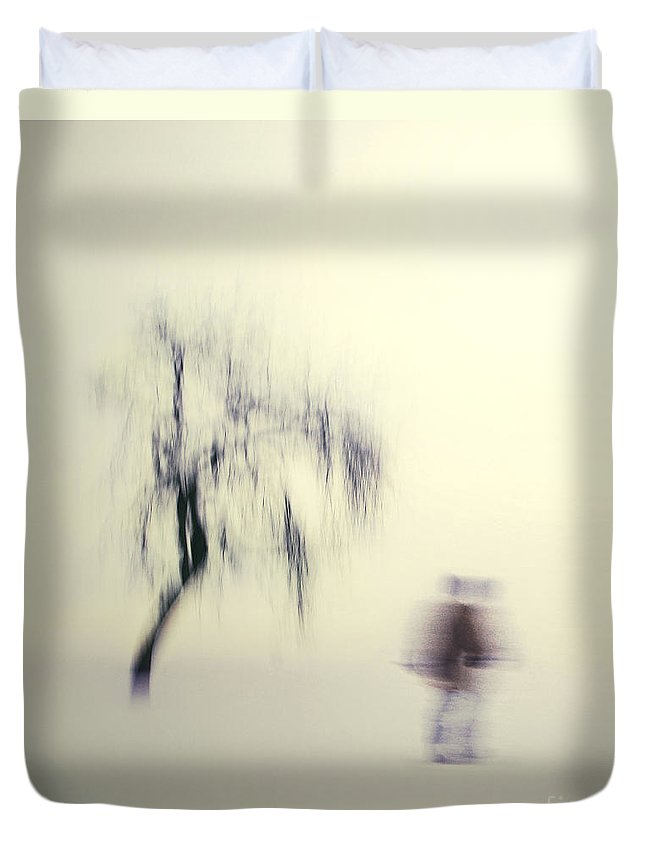 Blur Duvet Cover featuring the photograph What Is The Way To The Light by Dana DiPasquale