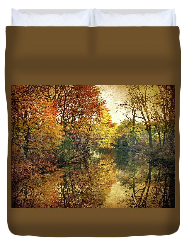 Nature Duvet Cover featuring the photograph What Remains by Jessica Jenney