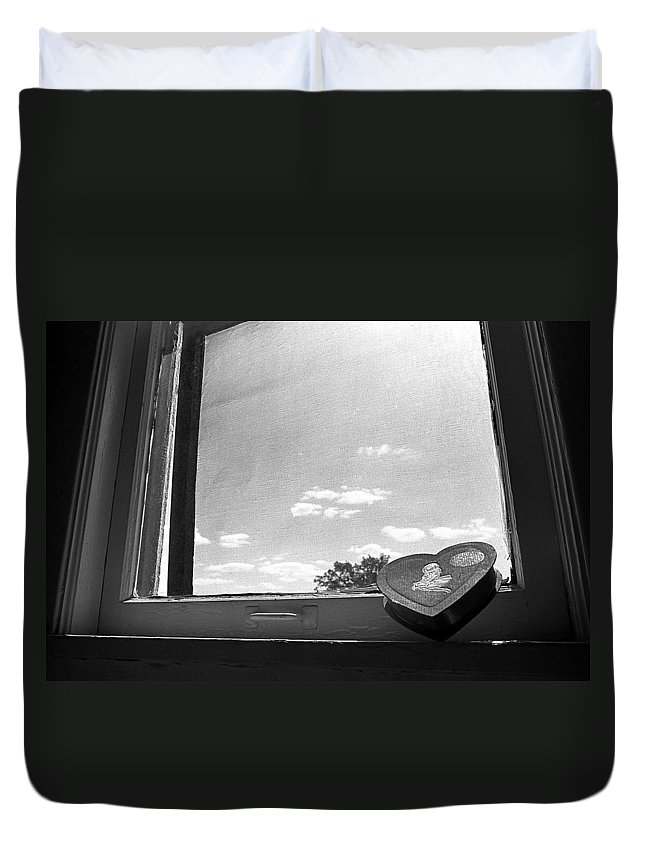 Window Duvet Cover featuring the photograph What Remains by Ted M Tubbs