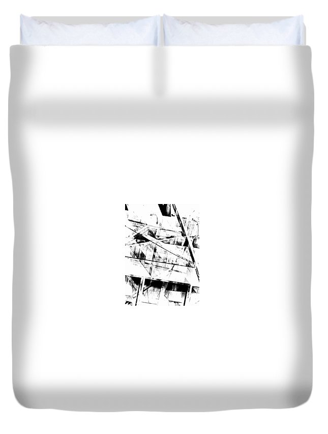 Abstract Duvet Cover featuring the photograph What Remains by Tom Gowanlock