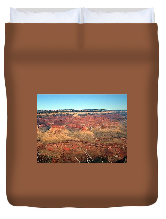 Grand Canyon Duvet Cover featuring the photograph Whata View by Shelley Jones
