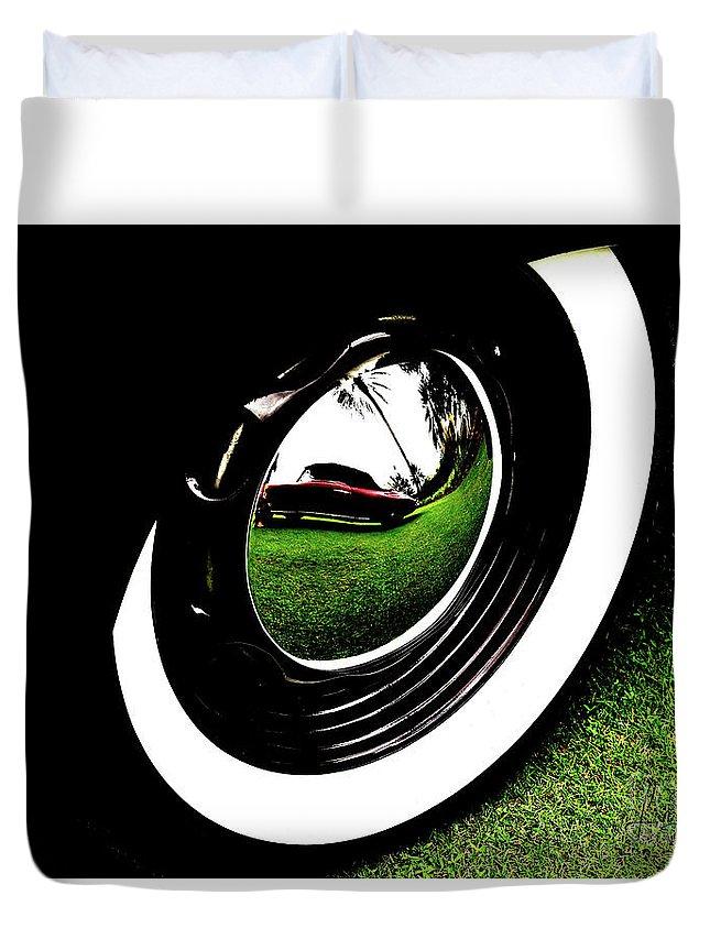 Wheel Art Duvet Cover featuring the photograph Wheel Art 2 by Lisa Renee Ludlum