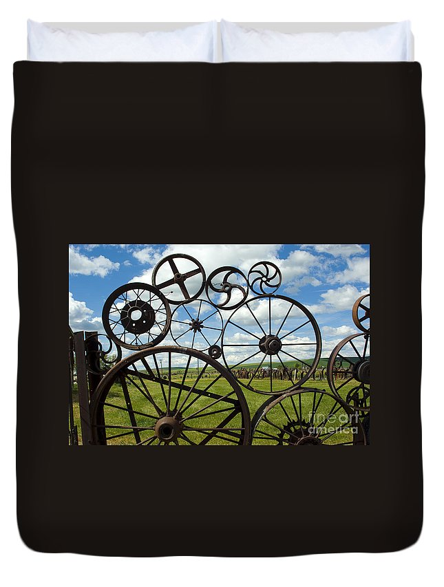 Wheels Duvet Cover featuring the photograph Wheels by Louise Magno