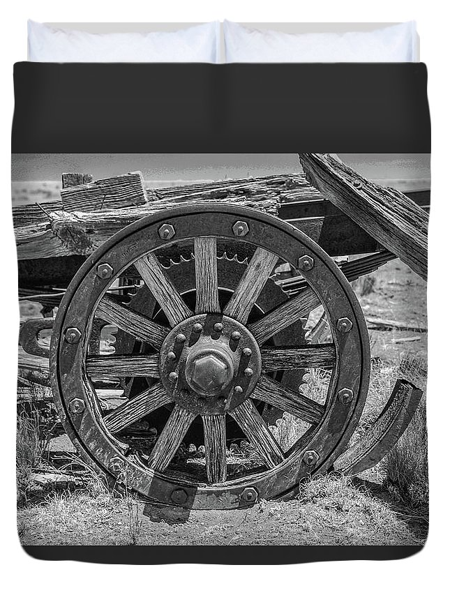 New Mexico Duvet Cover featuring the photograph Wheels Of Time by Enchanted Byways