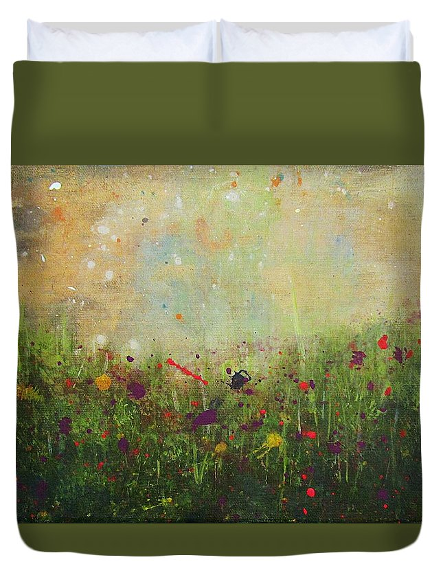 Landscape Duvet Cover featuring the painting When All Else Fails by Natalie Ricker