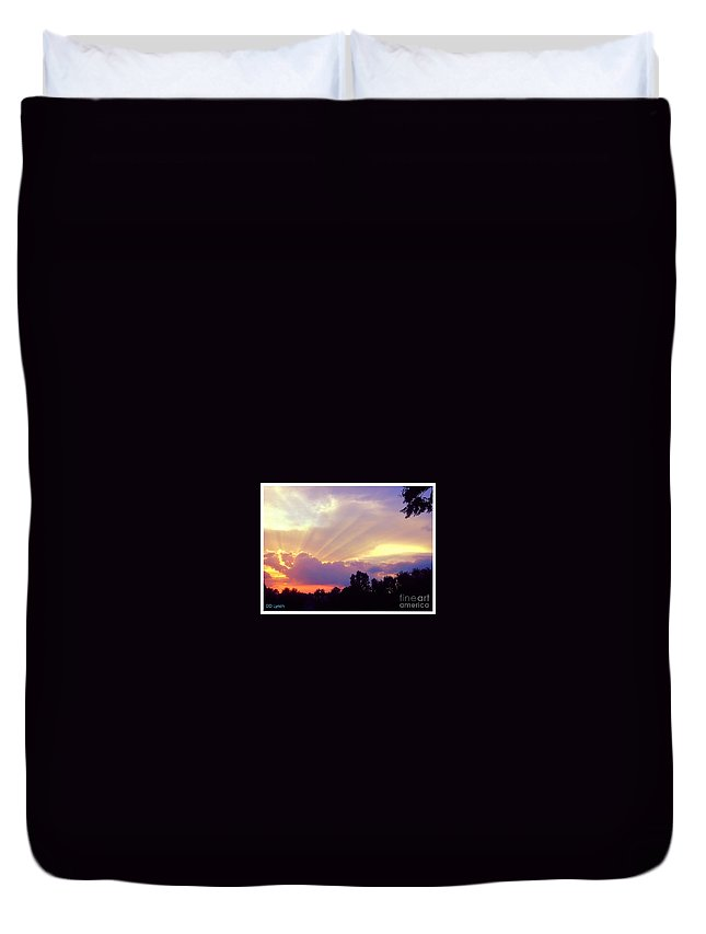Purple Duvet Cover featuring the photograph When Evening Comes by Debra Lynch