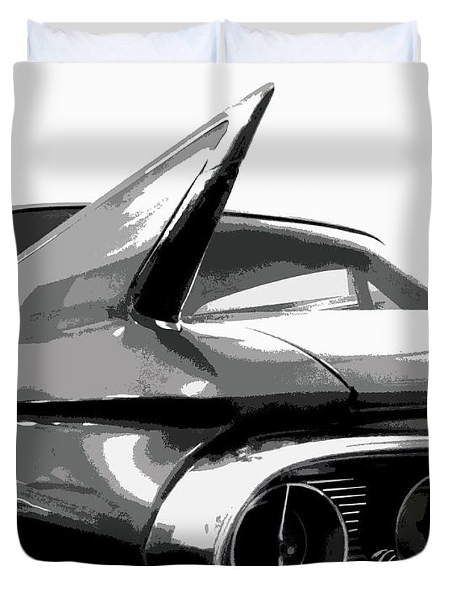 Cadillac Duvet Cover featuring the photograph When Fins Were Fashionable by Dick Goodman