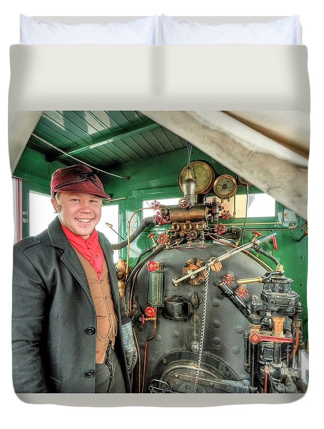 Golden Spike Duvet Cover featuring the photograph When I Grow Up... by Roxie Crouch