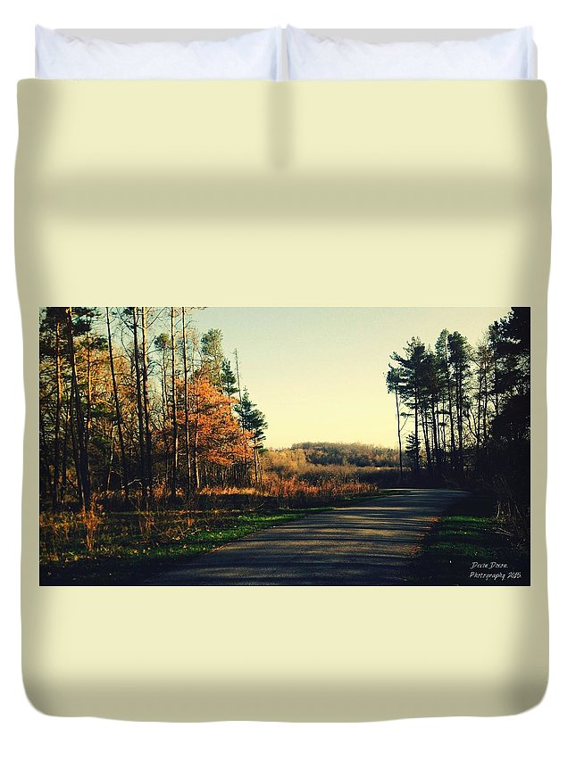 Landscape Duvet Cover featuring the photograph Where Will You Go? by Devin Dixon