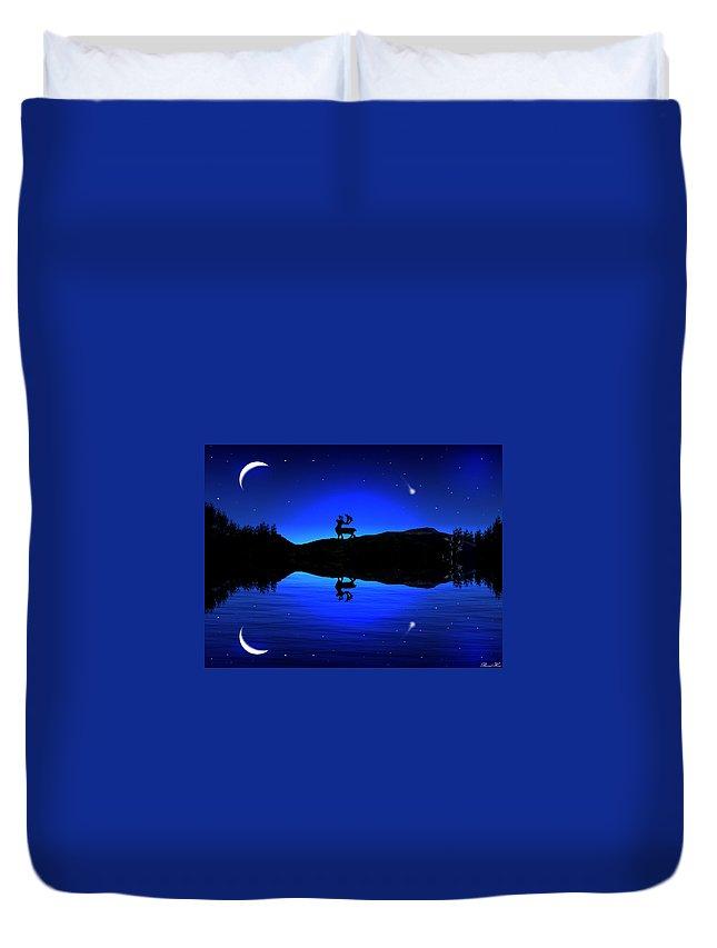 #fineart #night ##art #sky Duvet Cover featuring the digital art Wherever I May Roam by Bernd Hau