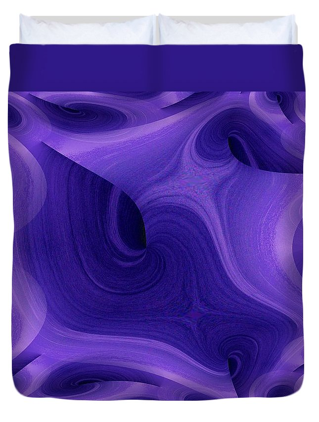 Fractals Duvet Cover featuring the photograph Whirlpool 1 by Tim Allen